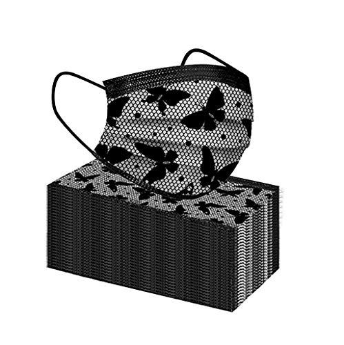 Mujer Y Hombre Protección 3 Capas Estampado de Encaje Transpirables con Elástico para Los Oídos Pack 50 Unidades 20201026- MEIbax Skin Bufanda Adulto