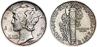 1924 P Silver Mercury Dime 10c Average Circulated