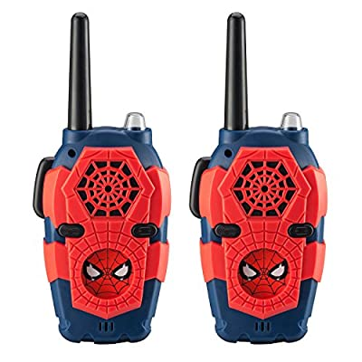 Spiderman FRS Walkie Talkies for Kids with Lights and Sounds Kid Friendly Easy to Use from Kid Designs