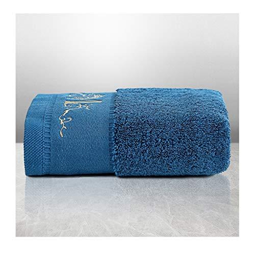 Tcaijing Handdoeken, Hoge Kwaliteit 100% Long-Staple Katoen (40 * 80cm) Super Zachte Super Absorbent 5 Sterren Hotel Kwaliteit 3 Kleuren Optioneel voor Familie Badkamer Zwembad Fitness Blauw