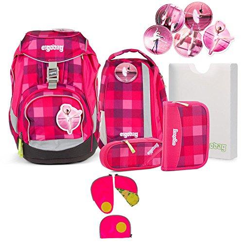 Ergobag Pack RhabarBär 2016 Schulrucksack-Set 6tlg + Sicherheitsset Pink