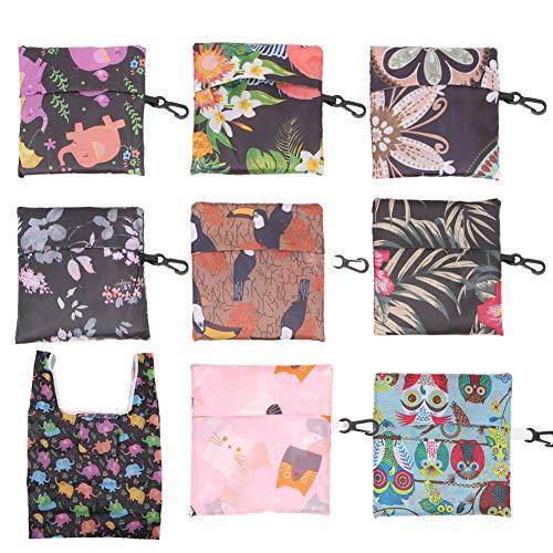 Wiederverwendbare Einkaufstaschen, umweltfreundlich, faltbar, 8 Stück