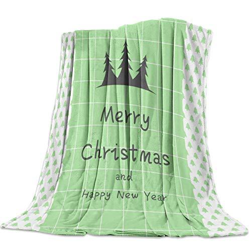 Manta Para Manta para cama, sofá, mantas para sofá, súper suave, acogedora, de lujo, para niños, adultos, uso durante toda la temporada, feliz Navidad y próspero año nuevo Blanket 125 X 100CM