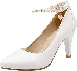 MisaKinsa Women Classic High Heels Pumps Ankle Strap