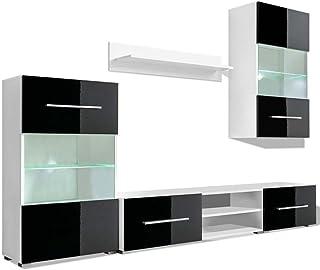 vidaXL Mueble de Pared 5 UDS Gabinete TV con Iluminación