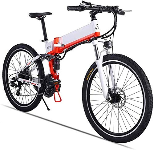 Bicicleta Eléctrica Plegable Bicicleta eléctrica de nieve, bicicleta de montaña eléctrica de 26 'para adultos, bicicleta de 500 vatios con freno de aceite xod 48V 12.8Ah batería de litio extraíble 21