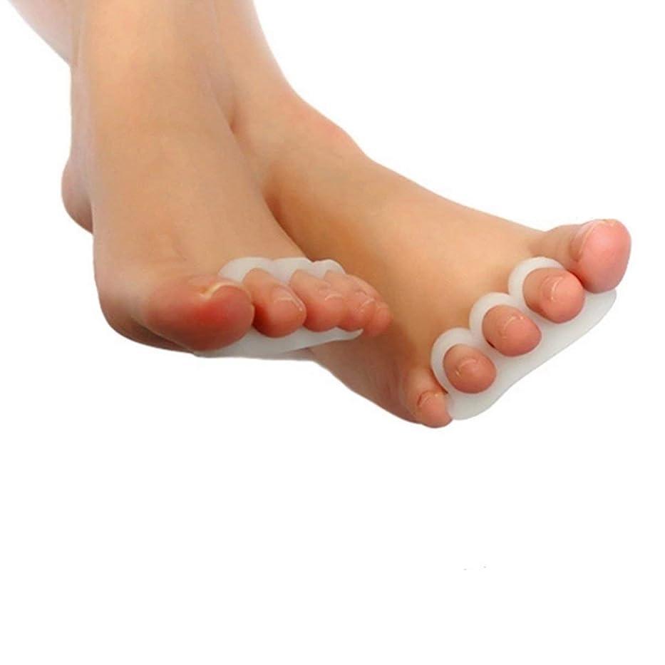 面倒示す差し引く2pcs Gel Toe Separators Stretchers Alignment Overlapping Toes Orthotics & Hammer Toes Orthopedic Cushion Feet Care Shoes Insoles