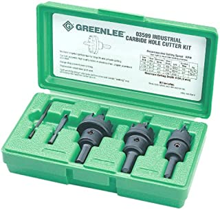 Hole Cutter Kit, 5 Pc, Tungsten Carbide