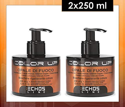 echosline Color Up–máscara regenerante Color ópalo de fuego–Nuance Cobre Intenso (250ML) 2unidades