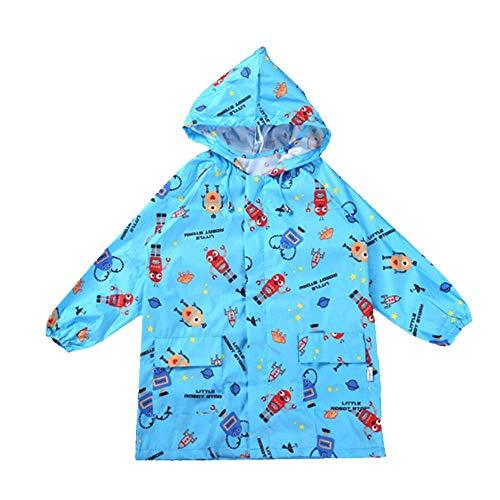 Guyuan Manteau de Printemps pour Enfants et modèles d'été pour Enfants Version coréenne du Poncho imperméable à l'eau et Respirant respectueux de l'environnement (Color : Blue, Size : M)