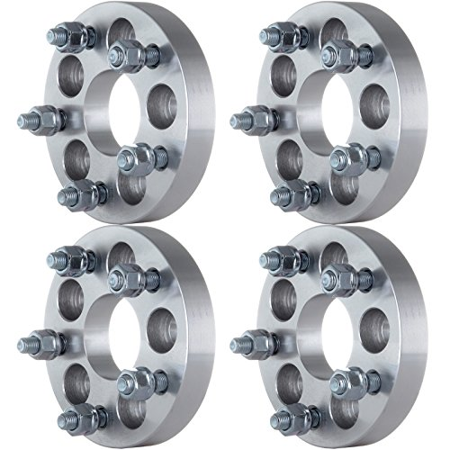 ECCPP 4X 5x100mm to 5x112mm Wheel Spacers Adapters 1 inch 57.1mm H.B 5 Lug Wheel Spacer fits for Subaru Forester Legacy Outback Impreza with Conversion Studs 12x1.5