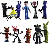 12 Pack Five Nights at Freddy's Action Figures Toys Cake Toppers Play Set Gifts (Figures Set)