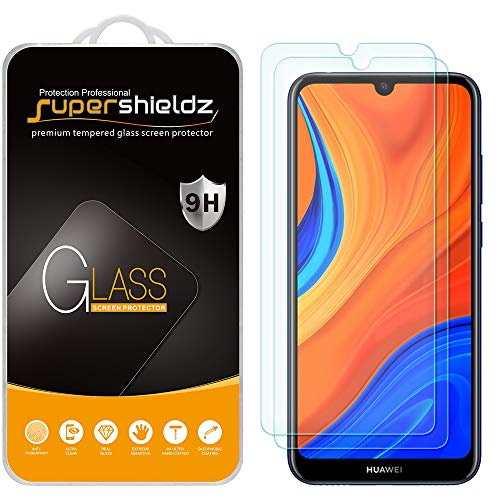 (2 Pack) Supershieldz Designed for Huawei Y6s (2019), Huawei Y6 (2019) and Huawei Y6 Pro (2019) Tempered Glass Screen Protector, Anti Scratch, Bubble Free