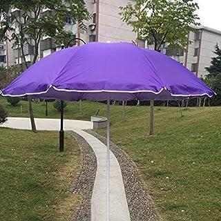 Hcyai Jardín Sombrilla, Extra Grande Patio de Doble Cara Paraguas de Sol, protección UV, con la Cubierta Protectora de Rojo púrpura Azul, 1.5 * 2M