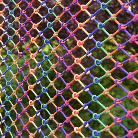 MuMa Red De Seguridad para Niños Red De Cuerda De Nailon, Red Decorativa De Cuerda De Color, Red Protectora De Barandilla De Escalera De Balcón, Red Protectora De Mascotas(Size:4 * 6M(13 * 20ft))