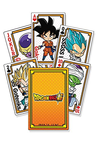 Great Eastern Entertainment Dragon Ball Super Goku SD Gruppe * 52 Playing Cards / Juego de Poker / Naipes Oficial - Original & Official Licensed