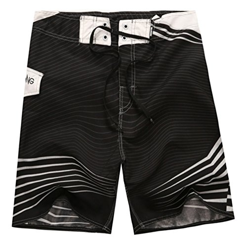 YOUJIA Swimshorts Bañador De Surf Pantalones Cortos Shorts para Hombre Negro M