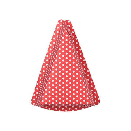 10 rote Tortenstück Backförmchen aus stabilem Ofenkarton | Motiv: Pünktchen