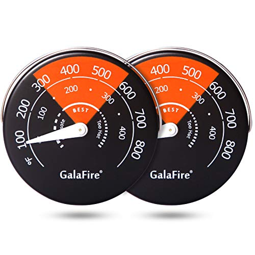 GALAFIRE 2PCS Stove Thermometer Magnetic Oven Thermometer Fireplace Accessories