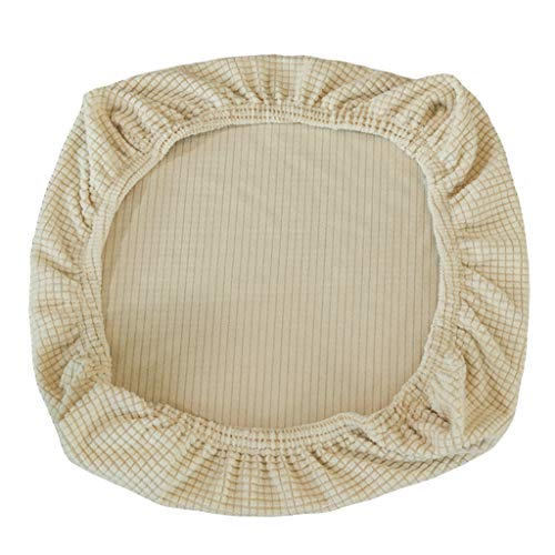 non-brand Set Cubiertas Elàstico para Sillas Asientos Protector Slipcover Decor de Casa hogar Suave Cómodo - Beige