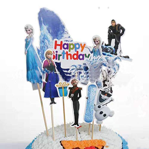 Guizu Cupcake Topper, 36 Stücke Muffin Deko, Kuchen Toppers für Kinder Baby Party Geburtstag Party Kuchen Dekoration Supplies (Eisromantik)