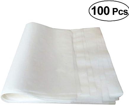 BESTONZON 100pcs Greaseproof Paper Sheets Non Stick Parchment Baking Paper Cake Pan Cookie Sheet Liner 25x35cm