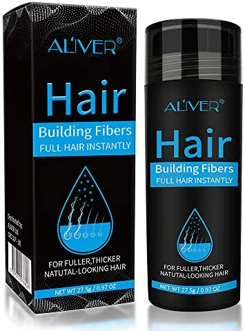 Aliver Hair Fibers for Thinning Hair Undetectable Natural Formula Thicker Fuller Hair in 15 product image