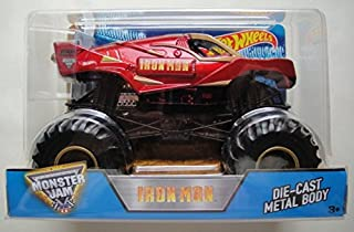 Hot Wheels 2016 Monster JAM Iron Man DIE CAST Metal Body 1:24 Scale