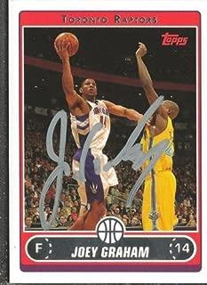 Joey Graham 2006 Topps Autograph #82 Raptors Oklahoma State