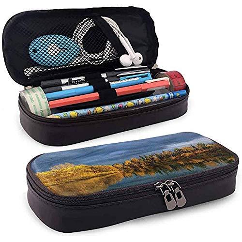 Bleistiftbeutel, federmäppchen tasche, federmäppchen, große kapazität langlebig russland kalt nördlichen ruhigen see 20cm * 9cm * 4cm