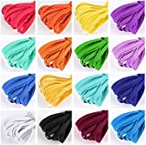 Color Elastic Bands for Sewing, 16 Rolls 3 Yards Length 1/4 Inch Flat Braided Elastic Cord/String for Sewing Craft DIY