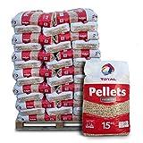 PALIGO Holzpellets Heizpellets Premium Wood Pellet ko Energie Heizung Kessel Sackware 6mm 15kg x 66 Sack 990kg / 1 Palette Total