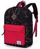 Preschool Toddler Backpack,Vaschy Little Kid Small Backpacks for Kindergarten Children Boys and Girls with Chest Strap in Black Red