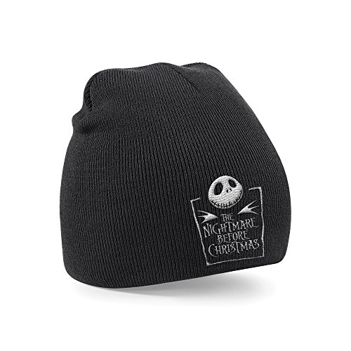 The Nightmare Before Christmas Bonnet Jack Logo noir
