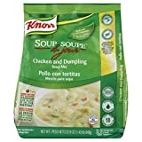Knorr Professional Soup du Jour Chicken and Dumpling Soup Mix No added MSG, 0g Trans Fat per Serving, Just Add Water, 22.9 oz, Pack of 4