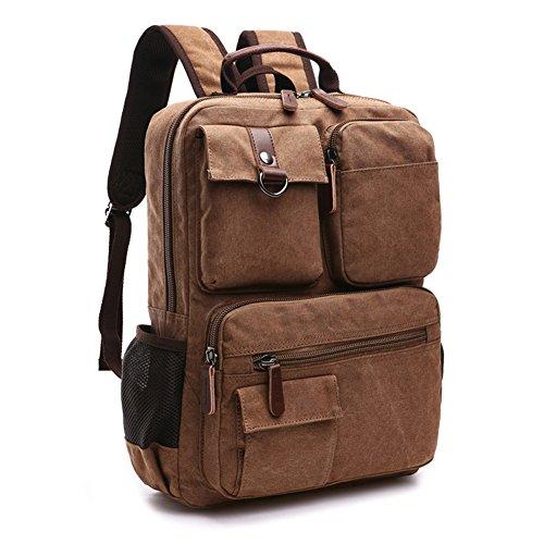 Yookeyo, zaino in tela per computer portatile, borsa da viaggio, zaino casual