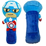 Cojín para cinturón de seguridad para niños, cojín para cinturón de seguridad de coche, almohadillas para hombro de vehículo,(Capitán América)