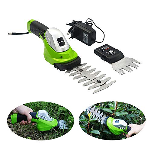 Check Out This ele ELEOPTION Cordless Hedge Trimmer Manual Grass Trimmers Cordless Clippers - 7.2V R...