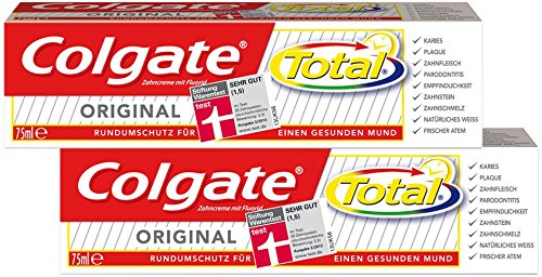 Colgate Total Original Duo-Pack, 2er Pack (2 x 75 ml)