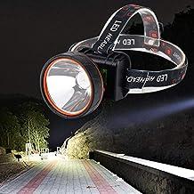 JSJJAUJ Hoofd Torch Super Heldere LED Koplamp Oplaadbare Koplamp 5000 Lumen voor Jacht Camping (Emitting Kleur: Standaard)