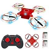 BOBOO Mini RC Drone for Kids,Foldable RC Quadcopter with Altitude Hold Mode,One-key Take-off