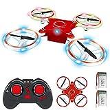 BOBOO Mini RC Drone pour Enfants, Quadcopter RC Pliable avec Mode de Maintien d'altitude, décollage et atterrissage à Une Touche, Flips 3D et Mode sans tête, Facile à Piloter pour Les débutants