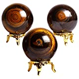 Shivacrystalreiki - Juego de bolas de tigre de siete chakras, 3 unidades