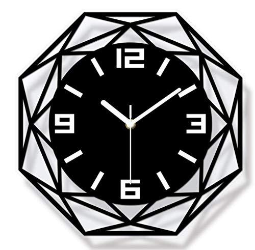 ZMIN Creative-Concise Dekorative Wand- Uhr hängend Wanduhr Home Office School (Schwarz)