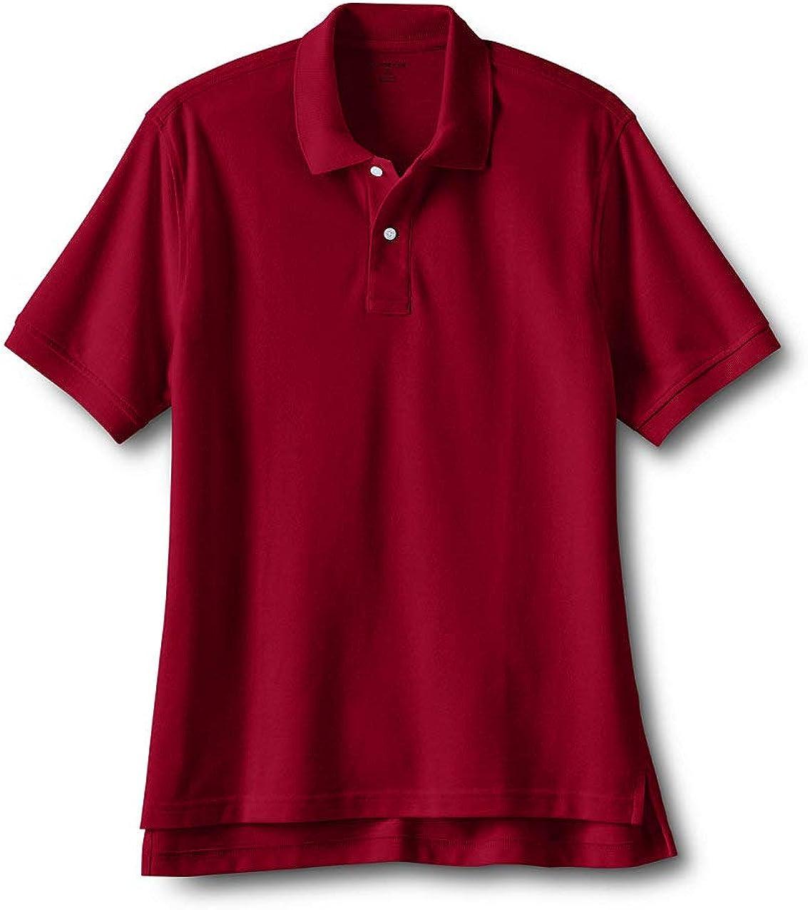 Lands' End School Uniform Men's Short Sleeve Mesh Polo Shirt