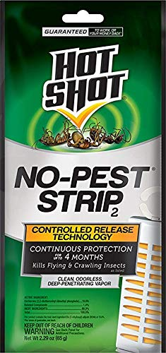Price comparison product image Hot Shot No-Pest Strip 2,  Controlled Release Technology Kills Flying and Crawling Insects 2.29 Ounce (Value Pack of 8)