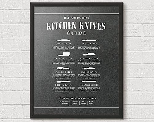 QJIAHQ Cuchillo de cocinero Cuchillo de cocina Carnicero Cuchillos de cocina Tabla de cocina Diagrama de cocina Único Cocina Regalo Arte de la Pared-5070CM sin marco