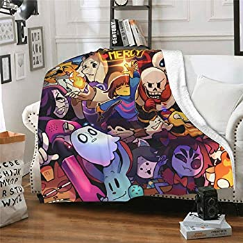 Augetomn Undertale Ultra Soft 3D Blanket Quilt, Microfiber Plush Throw Blankets for Bed Printed Quilt ,Blankets Adults Fleece Blanket Bedding