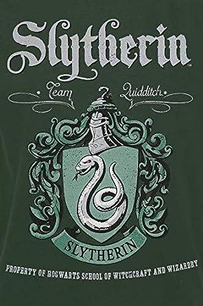 Regular HARRY POTTER Slytherin Hombre Camiseta Verde