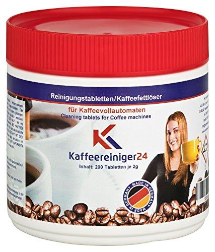 Reinigingstabletten voor volautomatische koffiemachines 200 stuks van 2g elk geschikt voor Jura, Siemens, Melitta, Krups, Bosch en nog veel meer.